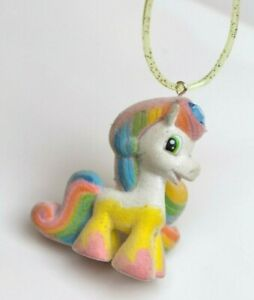 PONY Flocked 90s Rainbow Rave Kawaii Upcycled Necklace Choker Pastel Goth