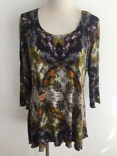 MiracleSuit Everyday Shapewear Top Blouse Olive Purple Taupe Ochre Rust Size M