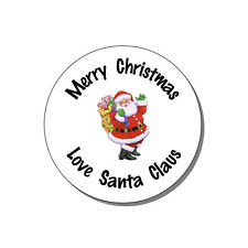 48 Personalized Round Glossy Christmas Gift Favor Labels Stickers 1.2""