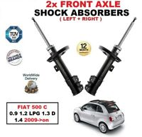 FRONT LEFT + RIGHT SHOCK ABSORBERS for FIAT 500 C 0.9 1.2 LPG 1.3 D 1.4 2009->on