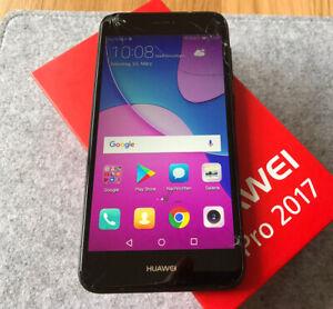 Huawei Y6 Pro 2017 16GB schwarz SLA-L22 - Glasbruch, technisch einwandfrei