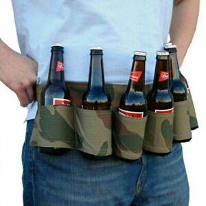 Outdoor Climbing Hiking 6 Pack Holster Bottle Waist Beer Belt Bag Handy Wine Can