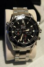 OMEGA SEAMASTER AMERICA'S CUP CHRONOMETER BLACK FACE ,HELIUM VALVE 43.8 MM DIA