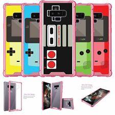 For Samsung Galaxy Note 9 SM-N960 | Note 9 Pink TPU Bumper Case - Retro Games
