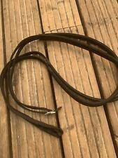 Thorowgood Rubber Grip & Webbed Reins, Full Size, Loop End. Black