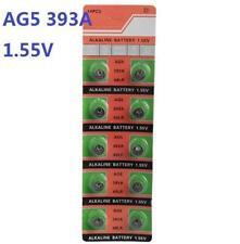 10X Batteries AG5 L754 LR48 393A SR48 Coin Button Cell Battery Watch camera *