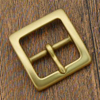 Mens 1.5 Inch Solid Brass Belt Bucket Golden Square Shape Belt Replacement Part