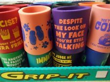 24 ASSORTED CAN COOZIE WITH SAYINGS KEEPS BEVERAGES COLD