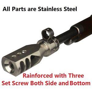 Stainless Mosin Nagant 9130 91/30 Tanker Style Muzzle Brake Triangular Baffles