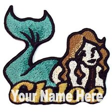 Mermaid Custom Iron-on Patch Personalized