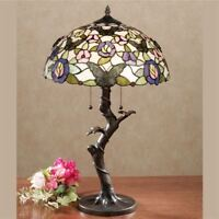 Take Flight Stained Glass Table Lamp w/ CFL Bulbs Multi Pastel Each w/ CFL Bulb