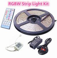 12V 5M LED RGBW Colour Changing Strip Light Kit RGB + Cool White Under Cabinet