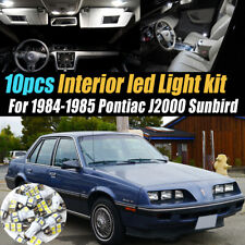 10Pc White Car Interior LED Light Bulb Kit for 1984-1985 Pontiac J2000 Sunbird