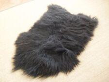 Prestigious British made sheepskin rug by Owen Barry - SHAGGY ICELANDIC BLACK