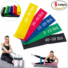 NEW Resistance Bands Loop Exercise Rubber Gym Yoga Elastic Band Fitness Training