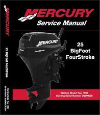 Mercury Outboard 25hp Bigfoot 4 Stroke OEM Factory Shop Repair Manual CD