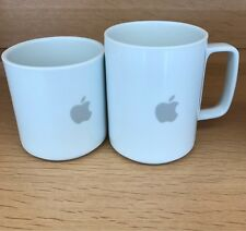 Set 2 Logo Apple  macintosh Computer Hasami Porcelain Mug Japan White 13 & 8 Oz