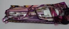 Fashion Reading Classes Foster Grant +2.00 NWT Matching Case Multi Color