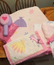 Girls Twin Princess  Quilt Set