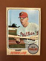 1968 Topps Gary Sutherland Card #98 NM Phillies