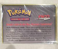 1999 POKEMON MARILL Neo Genesis Promo Card Sealed with Instructions