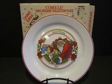 CORELLE 1991 Santa/Kids Holiday Collector Plate~VISIONS OF SUGAR PLUM~6014112