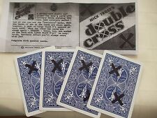 DOUBLE CROSS MAGIC CARD TRICK p;us BLINDFOLD FREE