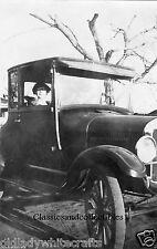 Vintage Photo 1920's  Lady sitting in vintage automobile