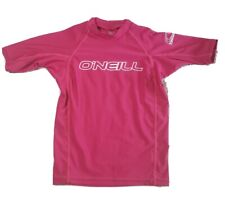 Oneill Youth Girls Rash Guard Size 8 Pink Ultraviolet Protection 50+
