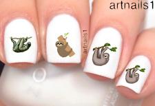 Cute Sloth Nail Art Water Slide Decals Stickers Manicure Salon Mani Pedi Polish