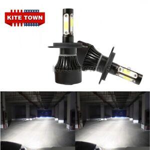 4-Side 300W H4 9003 HB2 LED Headlights Bulbs Kit High Low Beam 6000K Canbus 2x