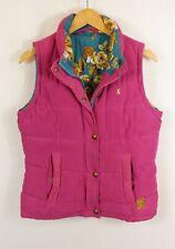 Ladies Joules Higham Quilted Gilet Bodywarmer Jacket UK 12 Medium Pink