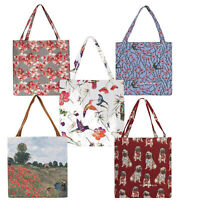Signare Tapestry Gussetted Woven Shoulder Grab Re-usable Shopping Bag