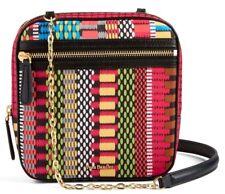 Vera Bradley Elena Crossbody Handbag in Cha-Cha  leather trim bag 218-s9