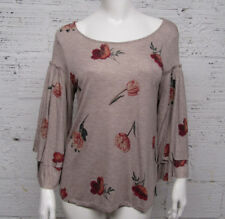 Lucky Brand  Women's Size S Double Bell Sleeves Floral Shirt