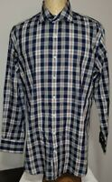 Peter Millar Mens Button-Up Dress Shirt Large Multicolored Plaid