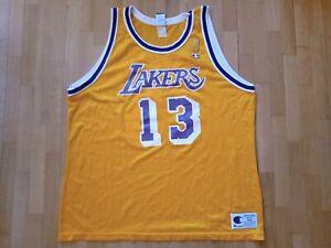 #13 Wilt Chamberlain Old Champion NBA 50th Gold Logo Basketball Jersey Size '52'