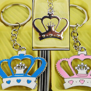 12x Baby Shower Party Favors Keychains Boy Girl Recuerdos de Bautizo Nina Nino