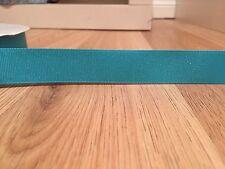 "1m Blue Aqua Glitter Grosgrain Ribbon 7/8"" 22mm Hair Bows Craft Cake Scrapbook"