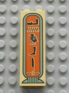 LEGO Egypte Tan Brick 1x2x5 Hieroglyphs Arm on Top Ref  2454px2 Set 5988 5958