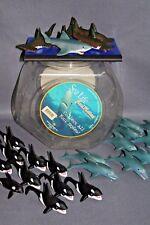 1997 LOT 27 RESAURUS SEA LIFE ANIMATES DOLPHIN,KILLERWHALE RUBBER FINGER PUPPET