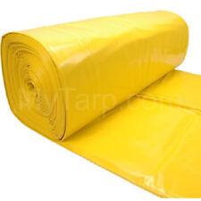 Plastic Sheeting - 20' x 100' 10 MIL Yellow Guard Vapor Barrier Moisture Control