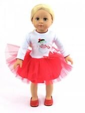 """Snowman Christmas Dress Fits 18"""" American Girl Doll Clothes"""