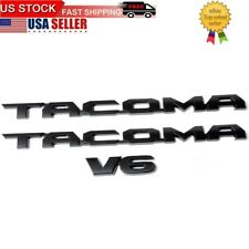 A Set Of 3pcs Tacoma Emblem 1pcs SR5 Auto Emblem Replacement For Tacoma Side Door Fender Tailgate Car Logo Badge Sticker 2005-2015 1pcs V6 Silver