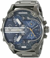 NEW DIESEL DZ7331 MR DADDY 2.0 MENS STAINLESS STEEL GUNMETAL CHRONOGRAPH WATCH