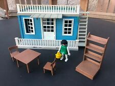 Maison Western bleue Playmobil 3421 3422 3424 3426 3430 3431