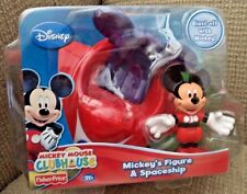 DISNEY MICKEY MOUSE CLUBHOUSE MICKEY'S FIGURE & SPACESHIP PLAYSET *NEW*