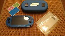 Blue 1001 PS Vita PlayStation Vita System 3.65 Henkaku Enso - 32GB - From Japan