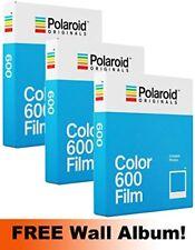 Polaroid Originals 600 Color Film TRIPLE Pack 24 Shots  FREE Wall Album