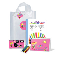 I'm The Big Sister Gift Bag- Hot Pink - Disposable camera, kids (Pk-122)